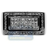 Black PVD 14K Gold 1.16 ct Princess Cut Diamond Mens Rectangle Ring