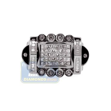 Black PVD 14K Gold 1.09 ct Mixed Cut Diamond Mens Ring