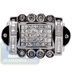 Black PVD 14K Gold 1.09 ct Mixed Cut Diamond Mens Ring