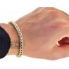 Mens Diamond Franco Bracelet 14K Yellow Gold 3.20 ct 5 mm 8 inch