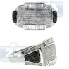 14K White Gold 1.60 ct Black Round Baguette Diamond Mens Ring