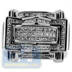 Black PVD 14K Gold 1.16 ct Princess Round Diamond Mens Ring