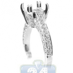 18K White Gold 0.97 ct Diamond Engagement Vintage Ring Setting