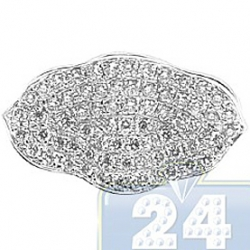 18K White Gold 0.65 ct Diamond Womens Flower Ring