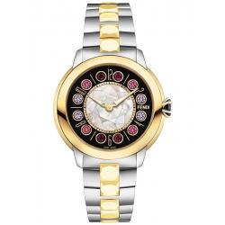 Fendi IShine Black Dial Two Tone Yellow 33 mm Watch F121121500T01