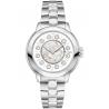 F121024500T01 Fendi IShine White Dial Silver Steel 33mm Watch