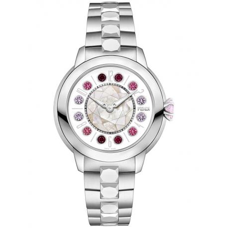 F121034500T01 Fendi IShine White Dial Silver Steel 38mm Watch