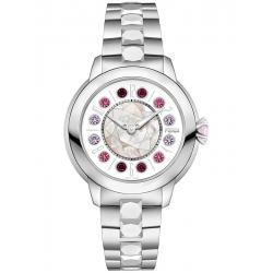 Fendi IShine White Dial Silver Steel 38 mm Watch F121034500T01