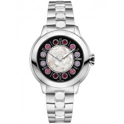 Fendi IShine Black Dial Silver Steel 38 mm Watch F121031500T01