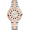 F121224500T01 Fendi IShine White Dial Two Tone Rose 33mm Watch