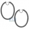 Womens Zebra Diamond Oval Hoops Earrings 18K White Gold 17.35 ct