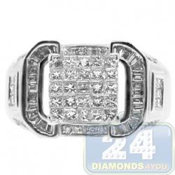 14K White Gold 1.12 ct Mixed Diamond Engagement Ring
