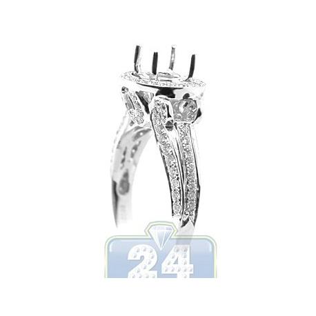 18K White Gold 0.69 ct Diamond Engagement Ring Setting