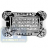 Black PVD 14K Gold 0.85 ct Mixed Diamond Mens Ring Signet