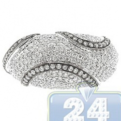14K White Gold 1.63 ct Diamond Womens Dome Band Ring