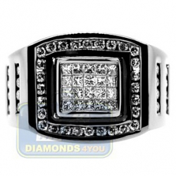 Black PVD 14K Gold 1.01 ct Mixed Diamond Mens Ring