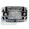 Black PVD 14K Gold 0.98 ct Princess Cut Diamond Mens Ring