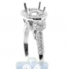 18K White Gold 0.81 ct Round Cut Diamond Engagement Ring Setting