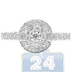 14K White Gold 0.98 ct Diamond Circles Engagement Ring