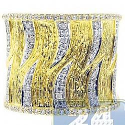 14K Yellow Gold 0.52 ct Diamond Womens Bamboo Ring