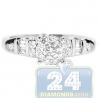 18K White Gold 0.64 ct Multishape Diamond Engagement Ring