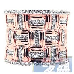 14K Rose Gold 0.55 ct Diamond Womens Vintage Ring