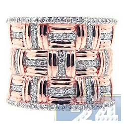 14K Rose Gold 0.55 ct Diamond Womens Vintage Ring
