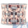 14K Rose Gold 0.55 ct Diamond Womens Vintage Band Ring