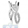 18K White Gold 0.60 ct Diamond Infinity Engagement Semi Mount