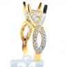 18K Yellow Gold 0.60 ct Diamond Engagement Ring Setting