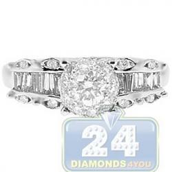14K White Gold 1.11 ct Diamond Vintage Engagement Ring