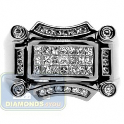 Black PVD 14K Gold 0.99 ct Mixed Diamond Mens Ring