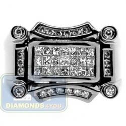 Black PVD 14K Gold 0.99 ct Mixed Diamond Mens Ring
