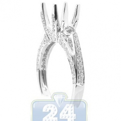 18K White Gold 0.63 ct Diamond High Set Engagement Ring Setting