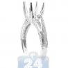 18K White Gold 0.63 ct Diamond High Set Engagement Semi Mount Ring