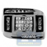 Black PVD 14K Gold 0.79 ct Princess Round Cut Diamond Mens Ring