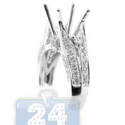 18K White Gold 0.59 ct Diamond Engagement Ring Setting