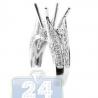 18K White Gold 0.59 ct Diamond Openwork Engagement Ring Setting