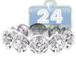 18K White Gold 1.30 ct Diamond All Way Around Vintage Ring