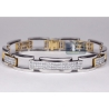 Mens Princess Diamond Bicycle Bracelet 14K Tone Gold 6.80 ct 8.75""