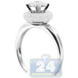 14K White Gold 0.75 ct Diamond High Mount Engagement Ring