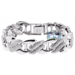 14K White Gold 6.31 ct Diamond Womens Mariner Bracelet