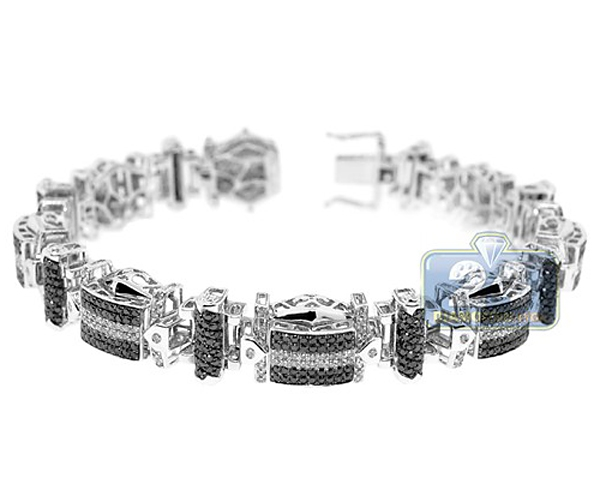 Link Bracelet 14k White Gold 5 80 Ct