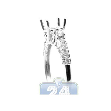 18K White Gold 0.46 ct VS1 F Diamond Engagement Ring Setting