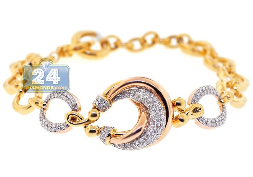 Circle Link Bracelet 14k Yellow Gold 1 12ct