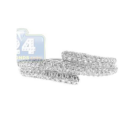 18K White Gold 0.39 ct Diamond Womens Vintage Band Ring