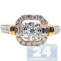 14K Yellow Gold 1.22 ct Baguette Diamond Engagement Ring