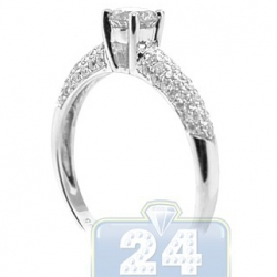 14K White Gold 0.81 ct Diamond Solitaire Engagement Ring