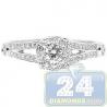 14K White Gold 0.63 ct Diamond Infinity Womens Engagement Ring