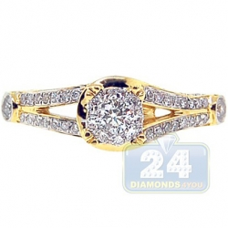 14K Yellow Gold 0.70 ct Diamond Vintage Engagement Ring